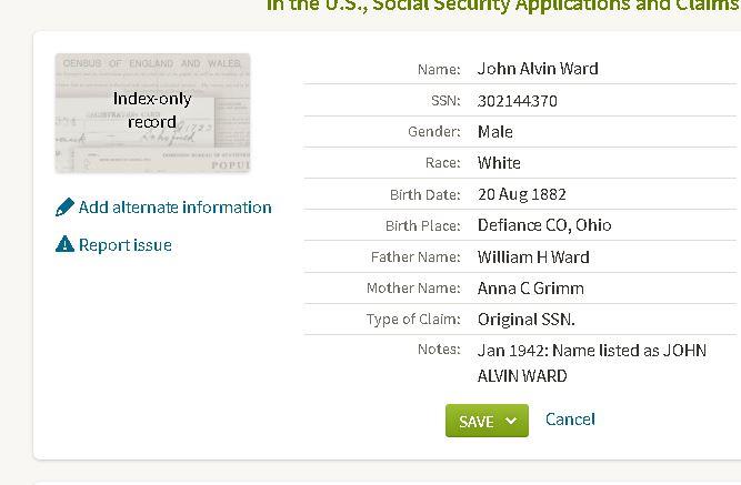 Social Security Records