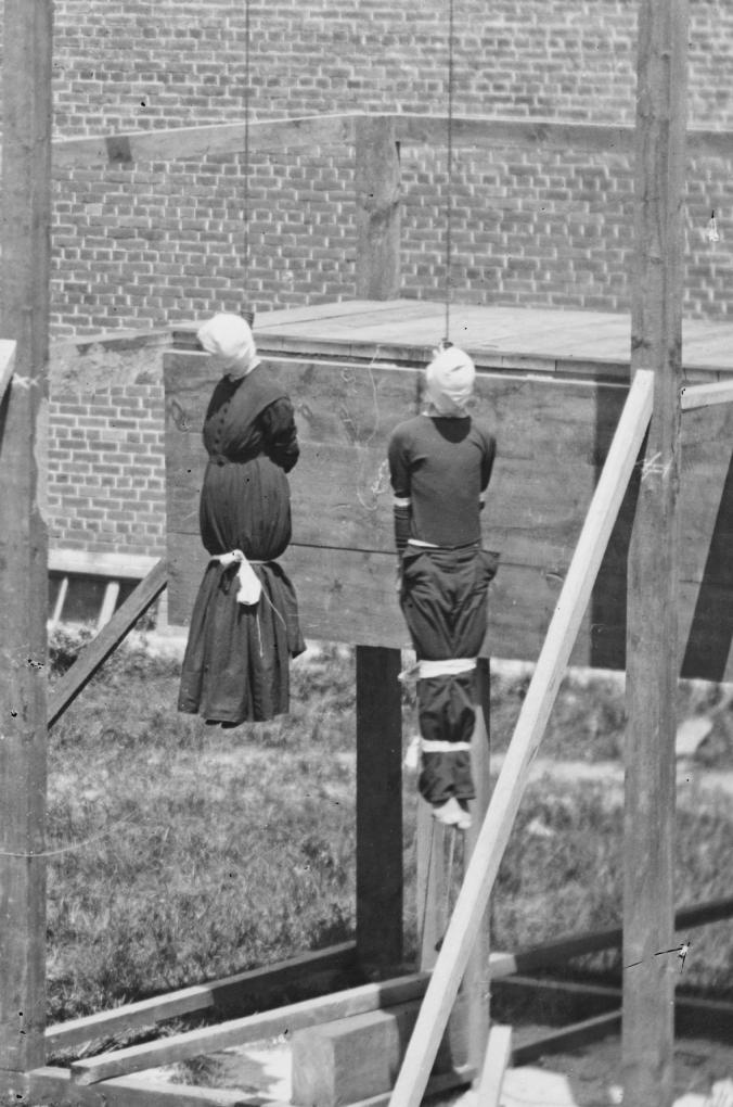 Mary Suratt (Left) Lewis Powell/Payne (Right)