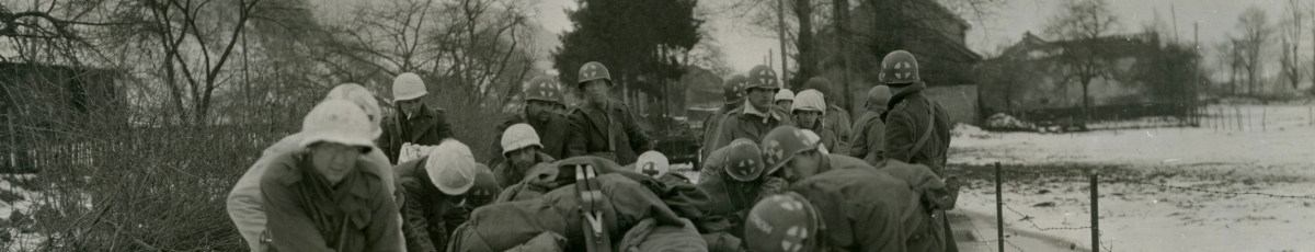 WWII Photo: American Medics in the Battle of the Bulge - 4th Infantry Division
