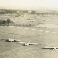 Rare Aerial Photo of Gliders Taken After Operation Varsity, March 1945