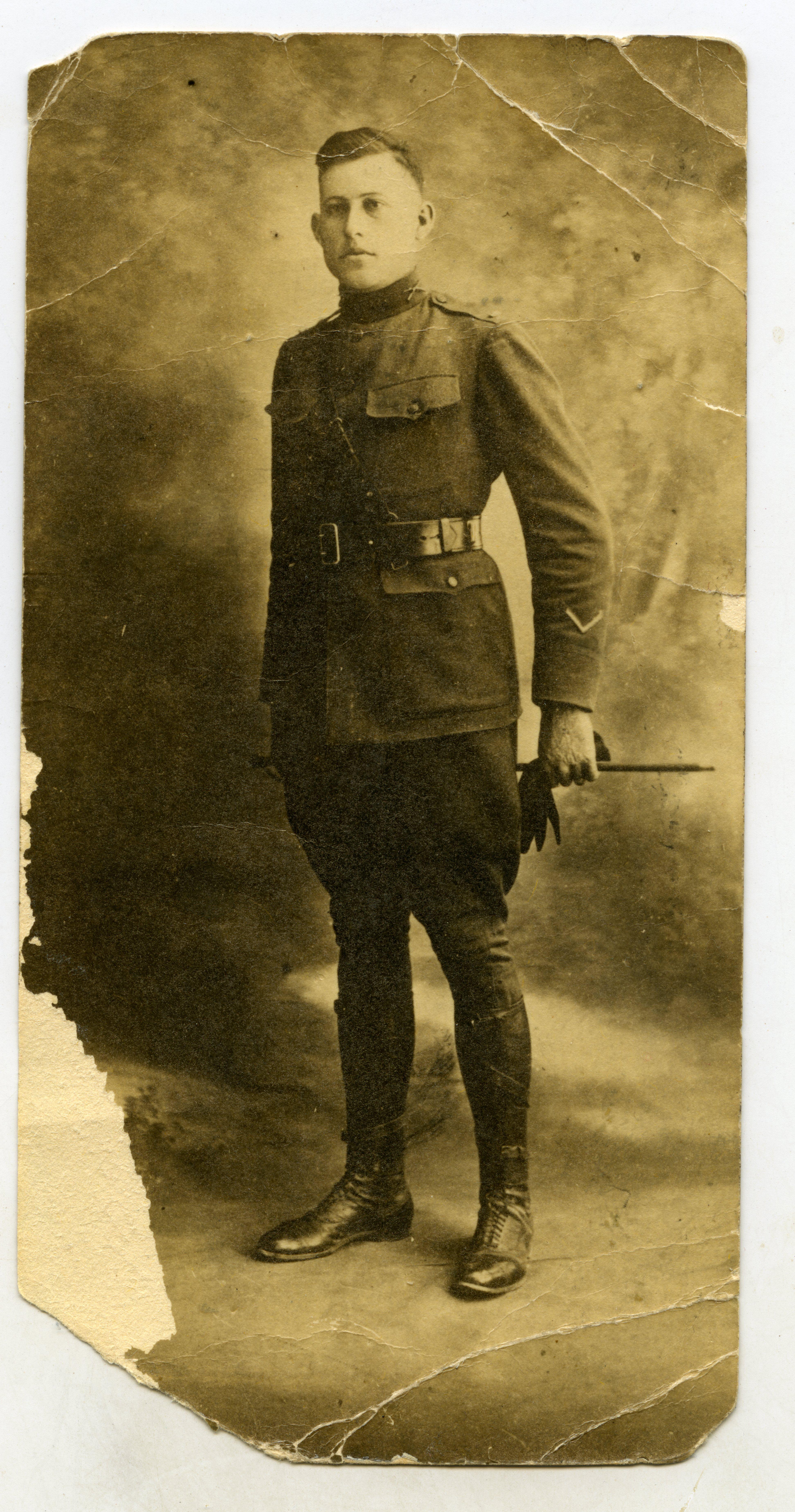 wwi portrait photo lt carl wehner 141st infantry regiment kia at st etienne france. Black Bedroom Furniture Sets. Home Design Ideas