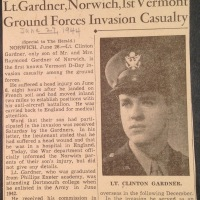 Norwich, Vermont Veteran Clinton Gardner's D-Day Experience