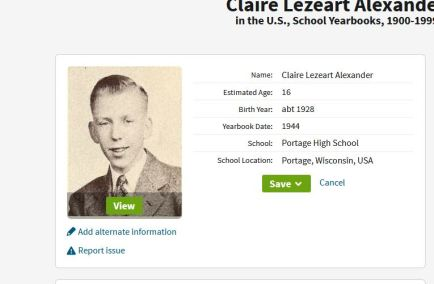 Son Claire in 1944